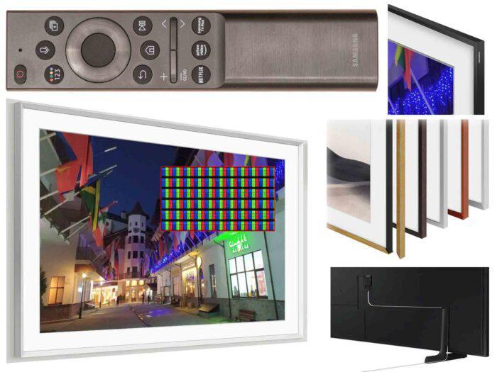 Samsung 55LS03A apzvalga remote and bezel