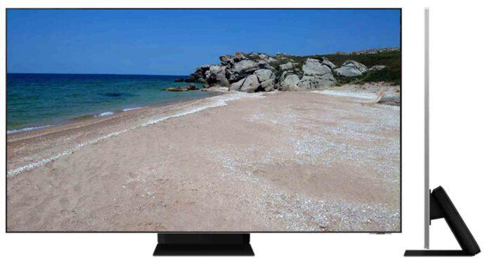 Samsung 65QN800A apzvalga - side view